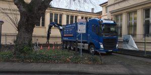 Saugbagger Einsatz in Bonn 03